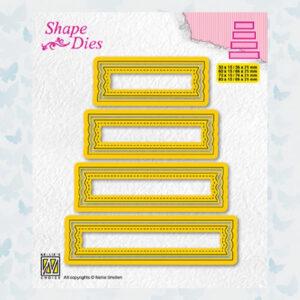 Nellies Choice Shape Die - set van 4 tags nr 2 - SD203