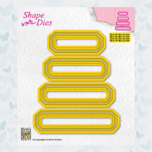Nellies Choice Shape Die - set van 4 tags nr 4 - SD205