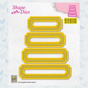 Nellies Choice Shape Die - set van 4 tags nr 5 - SD206