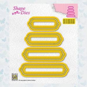 Nellies Choice Shape Die - set van 4 tags nr 6 - SD207