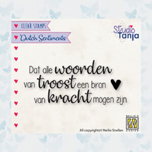 Nellies Choice Clearstempel Sentiments - Dat alle woorden SENC018