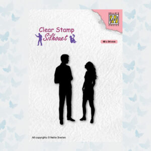 Nellies Choice Clearstempel - Silhouette Teenagers - Date SIL086