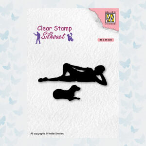 Nellies Choice Clearstempel - Silhouette Teenagers - Hond SIL087