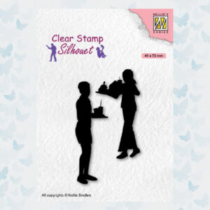 Nellies Choice Clearstempel - Silhouette Teenagers - Snacks SIL089