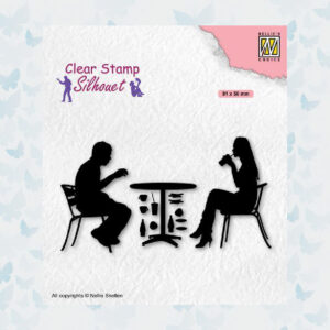 Nellies Choice Clearstempel - Silhouette Teenagers - Terras SIL091