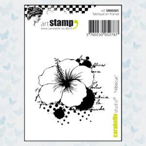 Carabelle Studio Rubber Stamp Hibiscus SMI0085