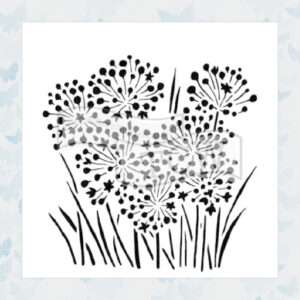 The Crafter's Workshop Onion Blossoms Stencil (TCW726s)