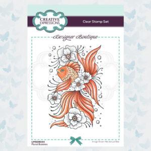 Creative Expressions Clear Stempel Designer Boutique - Bloemen Bubbels UMSDB044