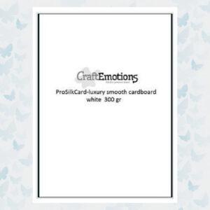 CraftEmotions Bulck - ProSilkCard Wit - Luxe glad karton 50 Vellen 000139/0301