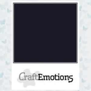 "CraftEmotions Karton Glad Zwart SC-58 / 12"""