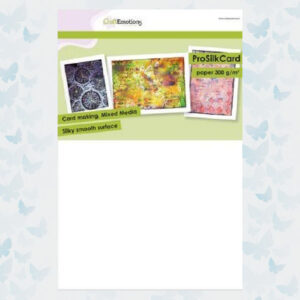 CraftEmotions ProSilkCard Wit - Luxe glad karton 10vel