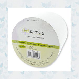 CraftEmotions EasyConnect (dubbelzijdig klevend) Craft tape 15m x 100mm
