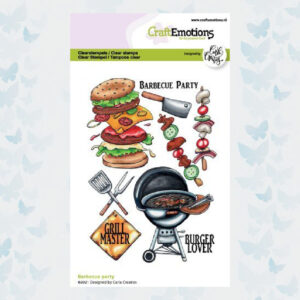 CraftEmotions Clear stempels A6 - Barbecue Party Carla Creaties 130501/1511
