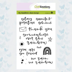 CraftEmotions Clear stempels A6 - Handletter - Rainbow 1 - Carla Kamphuis 130501/2209