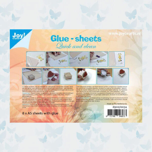 JoyCrafts Glue-sheets A5 - Quick and clean 6500/0034