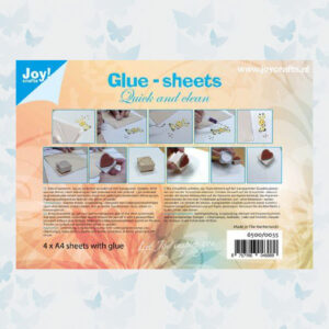 JoyCrafts Glue-sheets A4 - Quick and clean 6500/0035