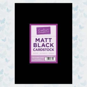 Crafter's Companion Matt Black Cardstock A4/40 Vellen (CC-MATTBL)