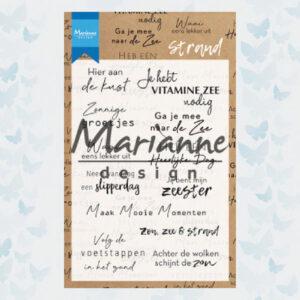Marianne Design Clear Stempels Teksten - Strand CS1024