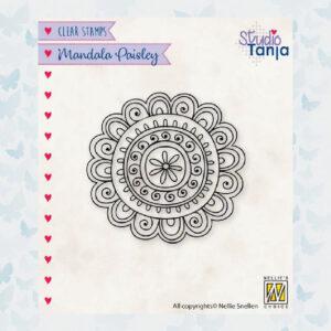 Nellies Choice Clear Stempel Mandala - Paisley Bloem 1 CSMAN009