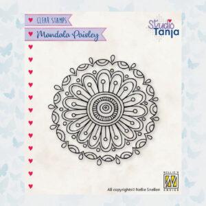 Nellies Choice Clear Stempel Mandala - Paisley Bloem 2 CSMAN010