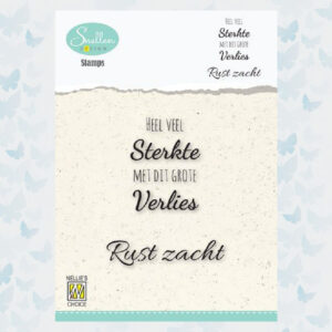 Nellie's Choice Clear Stamps Condoleance - Heel veel sterkte DCTCS001