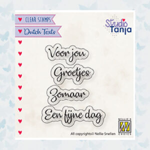 Nellie's Choice Clear Stamps Voor jou etc... DTCS026