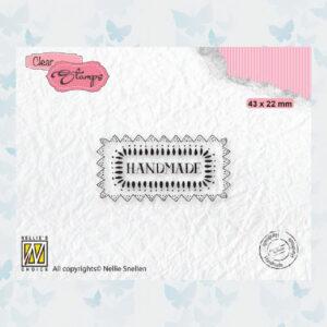 Nellies Choice Clear Stempel Tekst - Handmade DTCS030