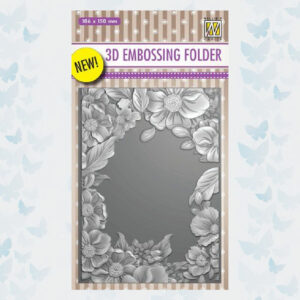 Nellie's Choice 3D Emb. folder Bloemen Frame EF3D009