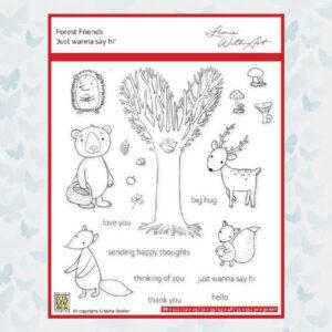 Nellies Choice Clear Stempel - Forest Friends set3 FFECS003