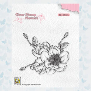 Nellies Choice Clearstempel Flowers - Magnolia FLO030