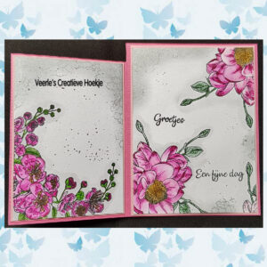 Nellies Choice Clearstempel Flowers - Bloesem Hoekje FLO031