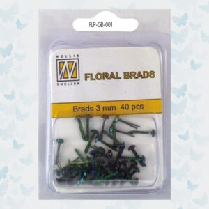 Nellie's Choice Glitter Brads Zwart FLP-GB-001