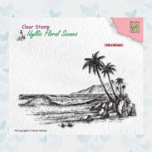 Nellies Choice Clear Stempel - Idyllic Floral - Tropische Kust IFS039