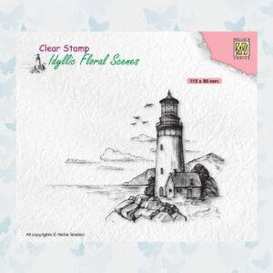 Nellies Choice Clear Stempel - Idyllic Floral - Vuurtoren IFS040