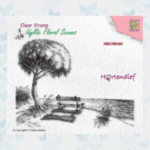 Nellies Choice Clear Stempel - Idyllic Floral - Zeezicht IFS041