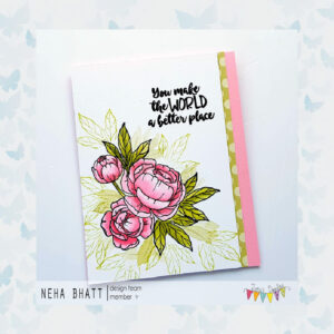 Jane's Doodles Clear Stamps Peony JD060