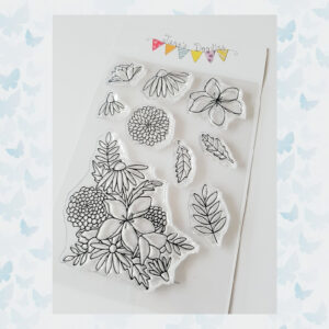 Jane's Doodles Clear Stamps Wild Flowers JD069