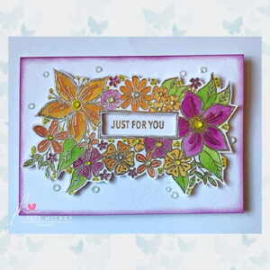 Julie Hickey Clear Stempels Bursting with Flowers JH1036