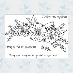 Julie Hickey Clear Stempels Floral Happiness JH1045