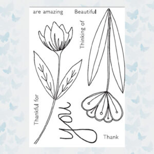 Julie Hickey Clear Stempels Florals for you JH1046