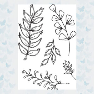 Julie Hickey Clear Stempels Floral Foliage JH1047