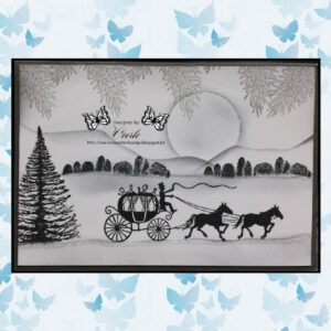 Lavinia Clear Stamp Horse and Carriage LAV146