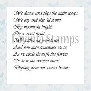 Lavinia Clear Stamp Secret Night LAV302