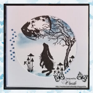 Lavinia Clear Stamp Woodland Hares LAV409