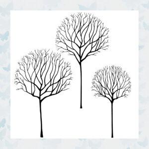 Lavinia Clear Stamp Skeleton Tree Scene LAV530