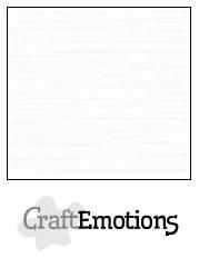 "CraftEmotions Linnenkarton Wit LC-02 / 12"""