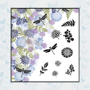 Majestix Clear Stamps Dragonfly Haven MADR-02