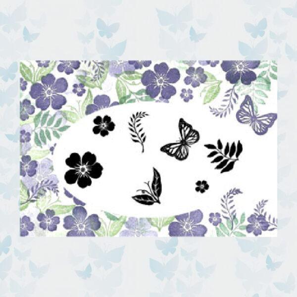 Majestix Clear Stamps Emily's Garden MAEM-01