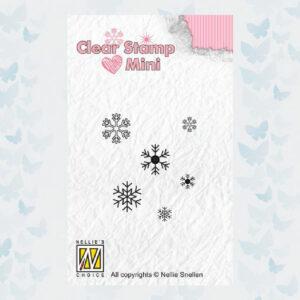 Nellies Choice Mini Clearstempel - Sneeuwvlokken MAFS011
