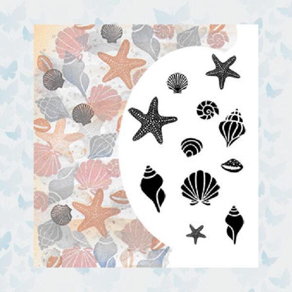 Majestix Clear Stempels Starfish and Shells MAST-01